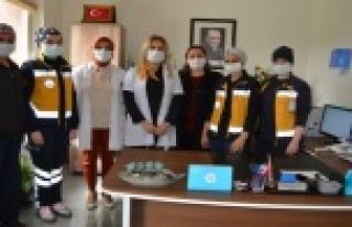 Alanya'da acil tıp teknisyenleri unutulmadı
