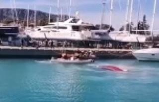 Antalya'da dalga yüzünden batan balıkçı teknesindeki...