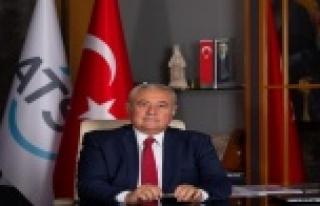 """ATSO Başkanı Çetin: """"Hizmet sektöründeki yüzde..."""