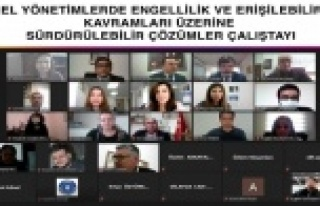 Büyükşehir Belediyesinin online çalıştayları...