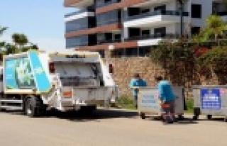 Alanya Belediyesi'nden Çöp toplama saatine...