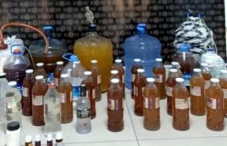 Alanya'da sahte alkol baskını