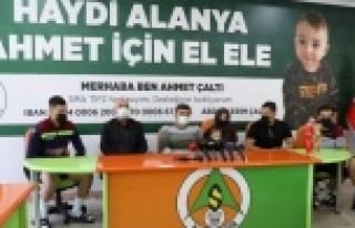 Alanyaspor'dan Ahmet için milyonluk bağış