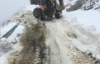 Antalya Büyükşehir Belediyesi'nden karla mücadele...