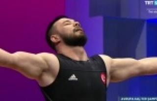 Daniyar Ismailov, Avrupa Halter Şampiyonası'nda...