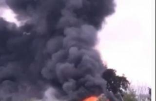 Korkutan yangın! Duman gökyüzünü kapladı
