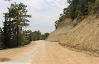 20 kilometrelik Grup Yolu asfalta hazırlanıyor