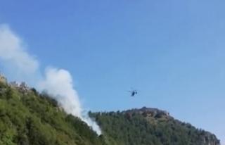 Alanya Kalesi'nde yangın çıktı