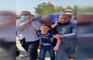 Filistinli çocuğun İsrail saldırısında ölen...