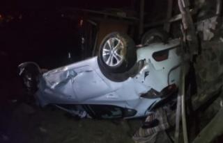Yoldan çıkan otomobil takla attı: 1 ölü, 2 yaralı...