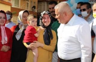Alanya Ahmet bebeği dualarla uğurladı