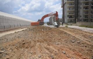 Alanya'da bir ilk daha sıkıştırılmış beton...