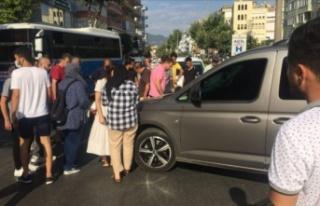 Alanya'da korkutan motosiklet kazası