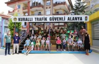 Alanya'da Trafik Eğitim Parkı eğitimleri yeniden...