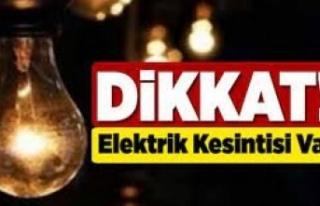 Alanya'da yarın elektrik kesintisi var