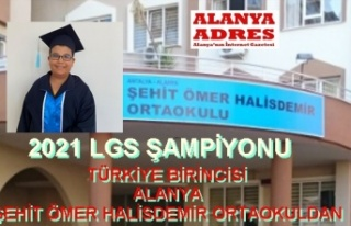 Antalya'nın LGS şampiyonu Alanya'dan