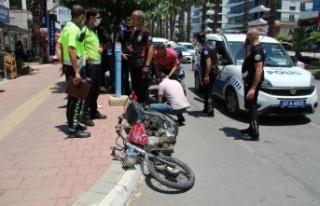 Çaldığı motosikletle yakalandı, 13 yaşında...