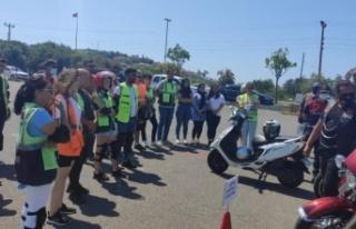 """Türkiye'de ilk """"Motosiklet Güvenli Sürüş..."""