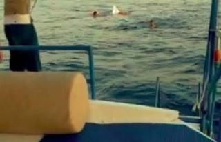 Açık denizde batan teknede can pazarı