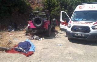 Alanya'da safari aracı devrildi: 1 ölü, 9...