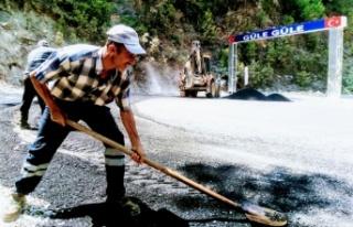 Alanya kırsalında yollara bakım ve onarım