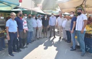 Alanya MHP'den pazar esnafına ziyaret