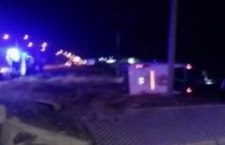 Alanyalı asker yolcuların bulunduğuotobüs kaza...