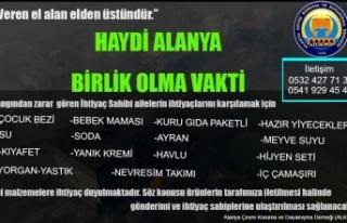 ALKOD'dan Alanya halkına yardım çağrısı