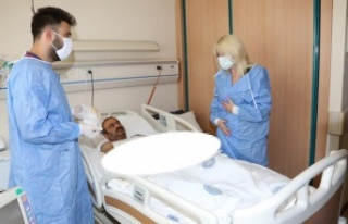 Kol nakli olan hastadan ilk görüntü