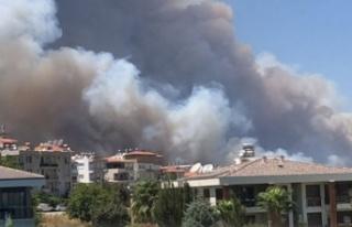 Manavgat'taki  yangına Alanya'dan destek