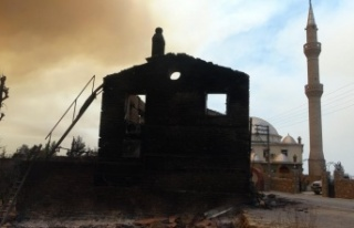 Sarılar'da yeniden yükselen alevler evleri tehdit...