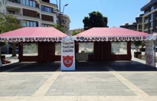 """Alanya Belediyespor """"Yangın Yardım çadırı""""..."""
