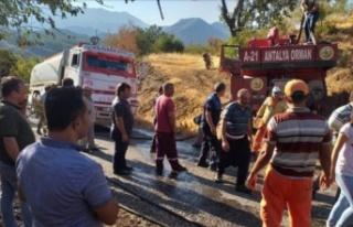 Alanya'daki yangını vatandaşın dikkati önledi