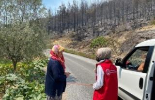 Alanya Sosyal Hizmet Merkezi yangın bölgesinde