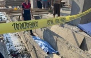 Alanya Toptancı Hal inşaatında kaza: 1 ölü var