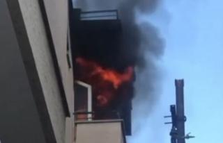Apartman dairesinde korkutan yangın