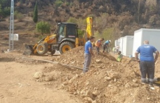 ASAT konteyner evlerin alt yapı çalışmasını...