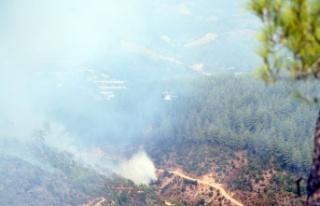 Güzelbağ'dan dumanlar yükselmeye devam ediyor