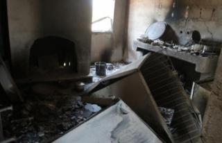 Kiminin evi, kiminin hayvanı yandı, geriye acı...