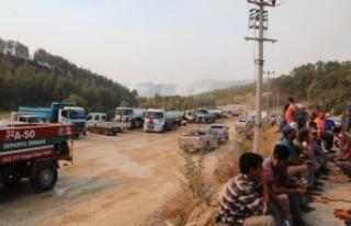 Manavgat'ta orman yangını 6'ncı gününde devam...