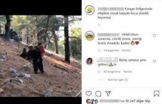 Ormancılara sırtında taşıdığı erzakla Türkiye'yi...