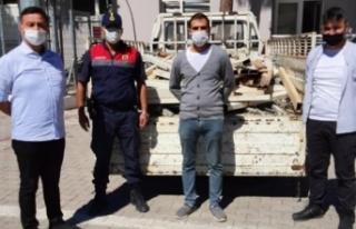 50 bin TL değerinde sera demirini çalan 3 Suriyeli...