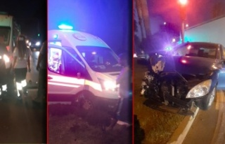 Alanya'da kırmızı ışıkta geçen ambulans...