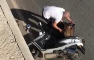 Alanya'da motosiklet kazası! Kadın sürücü...