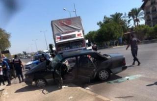 Alanya Manavgat yolunda feci kaza
