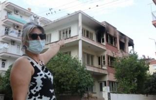 Alev alev yanan 'bimekan rezidans', mahalleliyi...