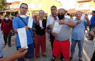 Mahalleliden yüksek gelen su faturasına tepki