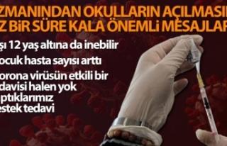 Prof. Dr. Taşova: 'Aşı 12 yaş altına da...