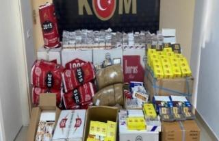 Alanya'da 9 bin 400 adet makaron ve 75 kg tütün...