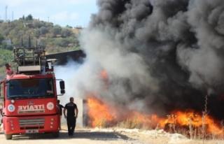 Gazipaşa'da korkutan yangın